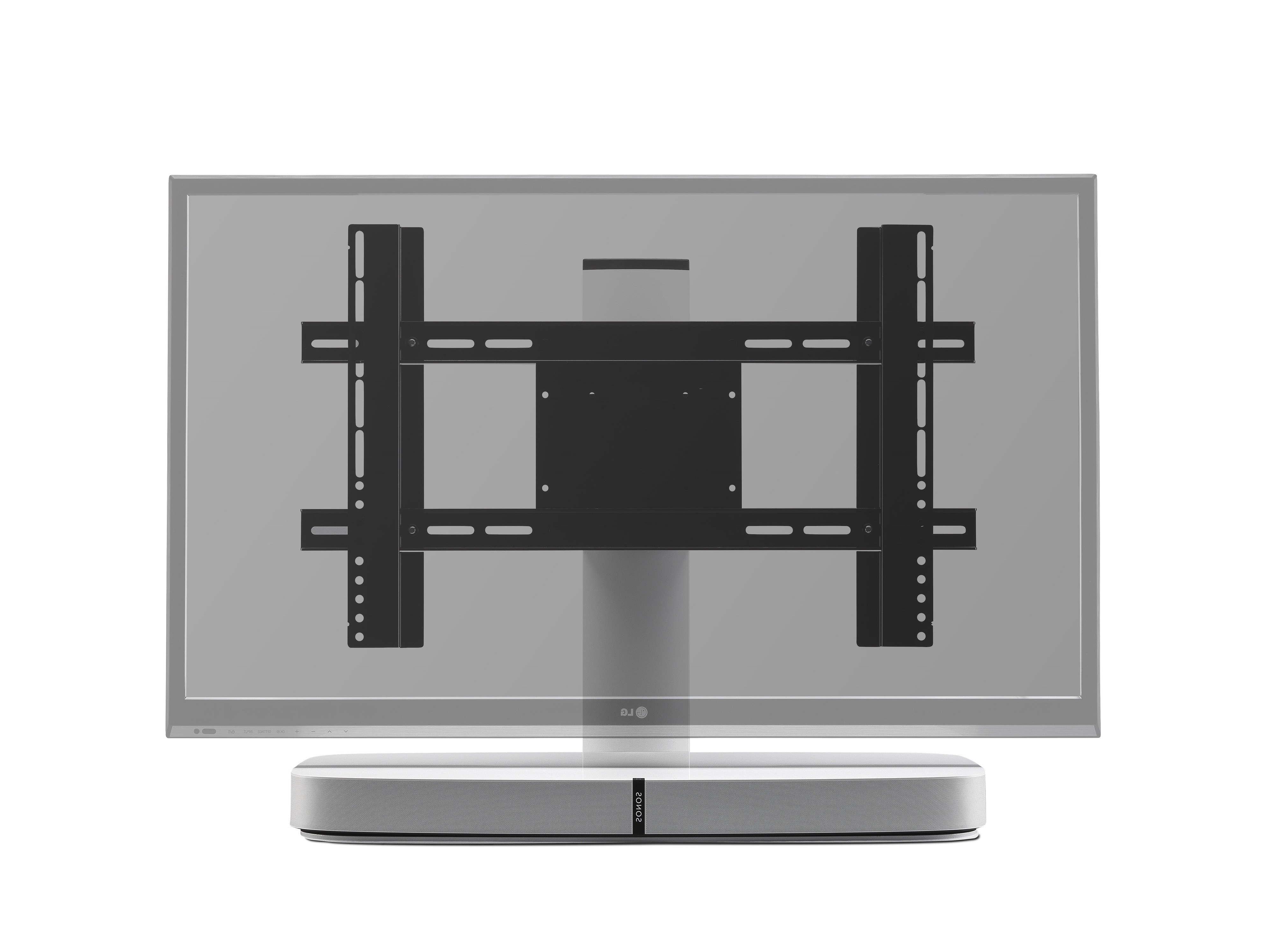 Sonos Tv Stands Intended For Newest Flexson Adjustable Tv Stand For Sonos Playbase – White – Digimania (Gallery 18 of 20)