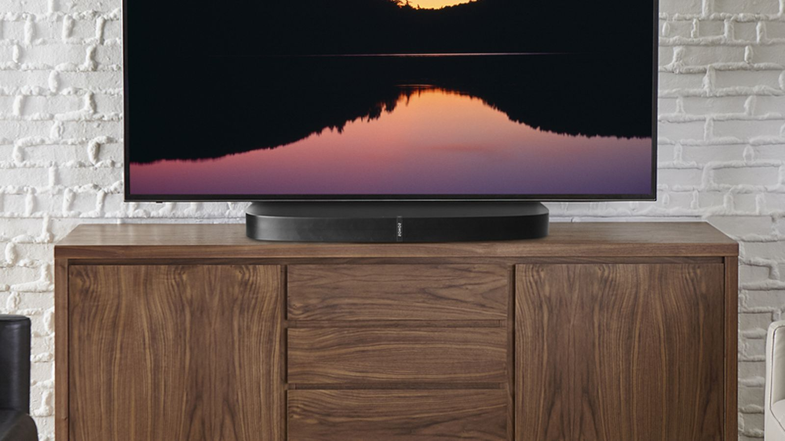 Sonos Tv Stands Throughout Most Recent Sonos Playbase Gets $150 Stand For Tvs That Won't Fit – Cnet (Gallery 8 of 20)