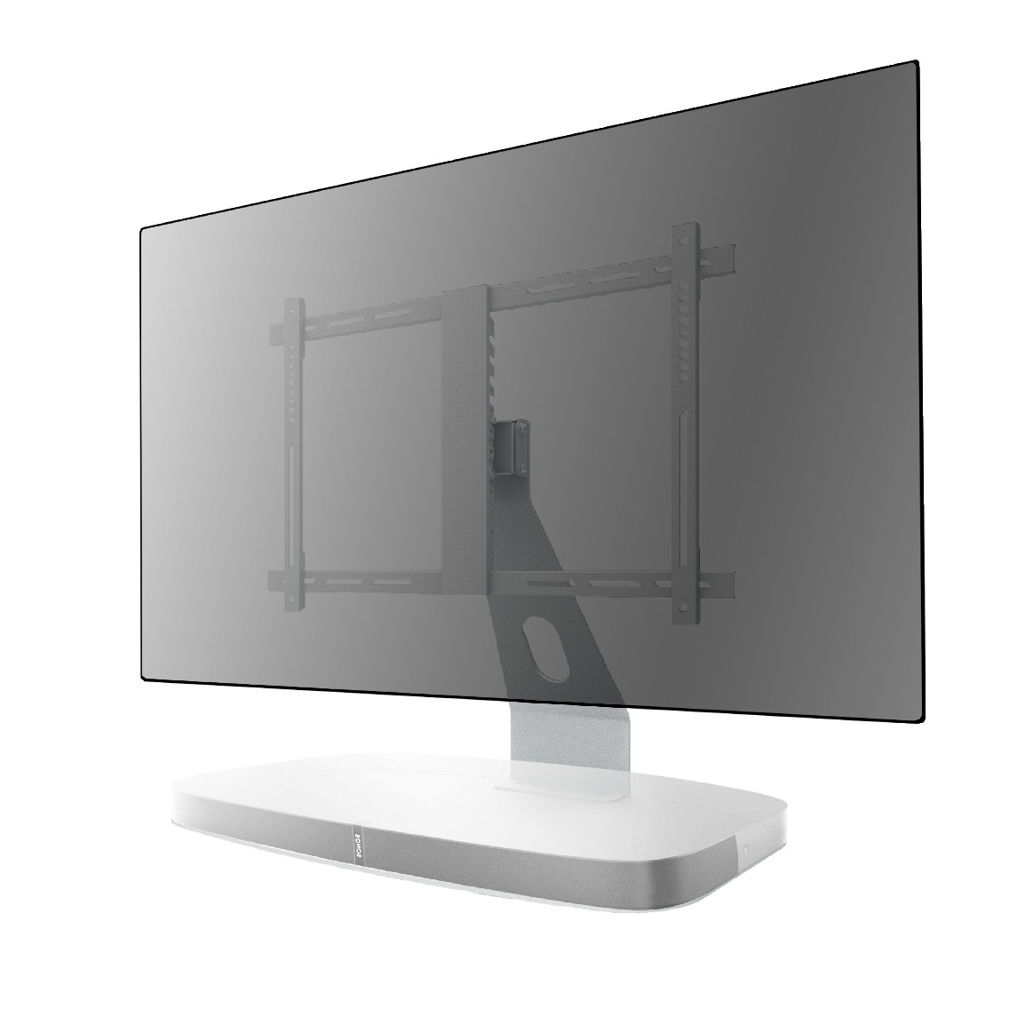 Sonos Tv Stands With Popular Tv Stand For Sonos Playbase White – Tv Stands (Gallery 11 of 20)