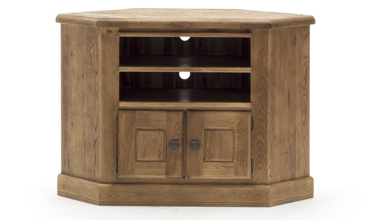 Sorrento Rustic Solid Oak Corner Tv Unit 18Vd364 Throughout Well Known Dark Wood Corner Tv Cabinets (Gallery 16 of 20)