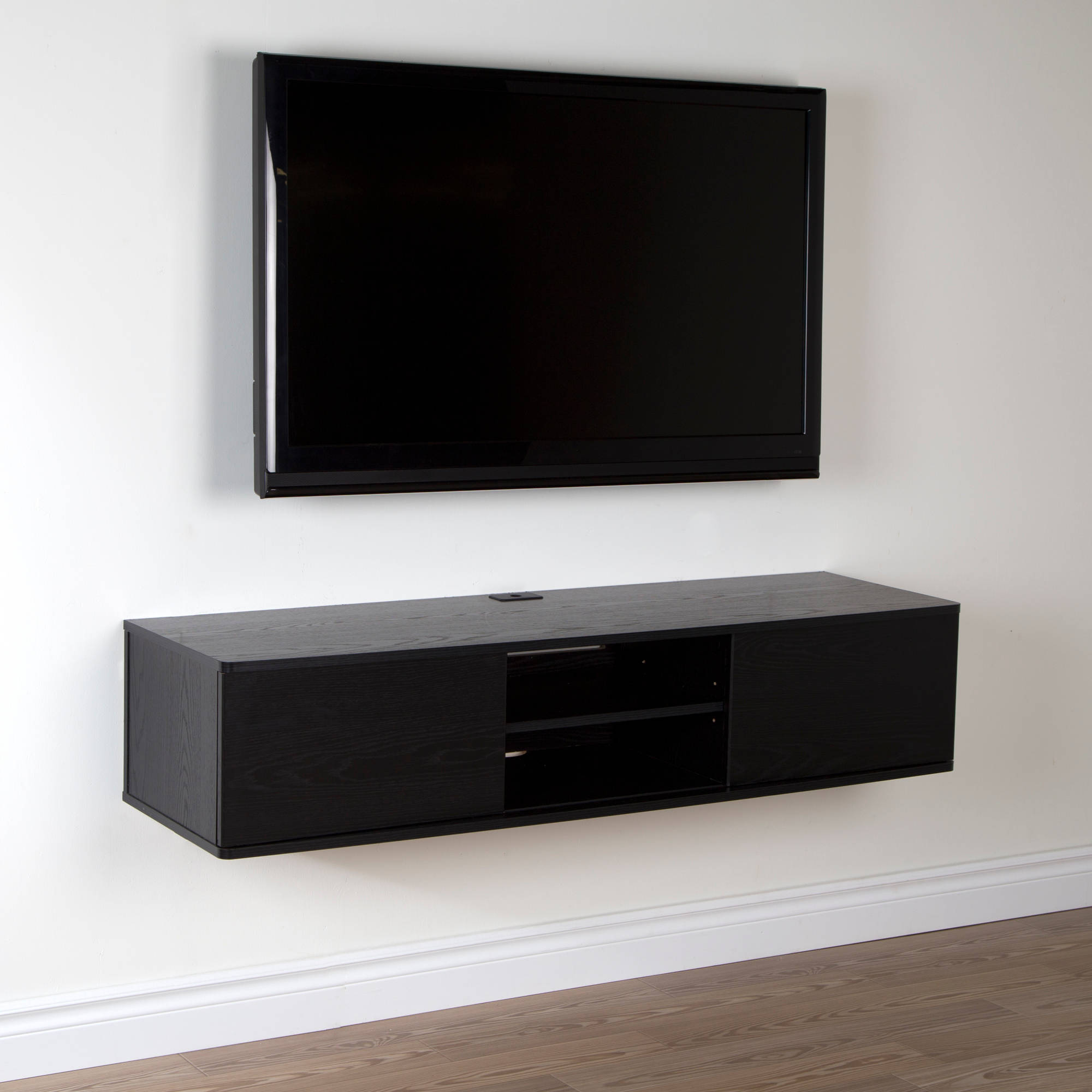 "South Shore Agora Wall Mounted Tv Stand For Tvs Up To 56"", Multiple For Most Recently Released Wall Mounted Tv Racks (Gallery 3 of 20)"