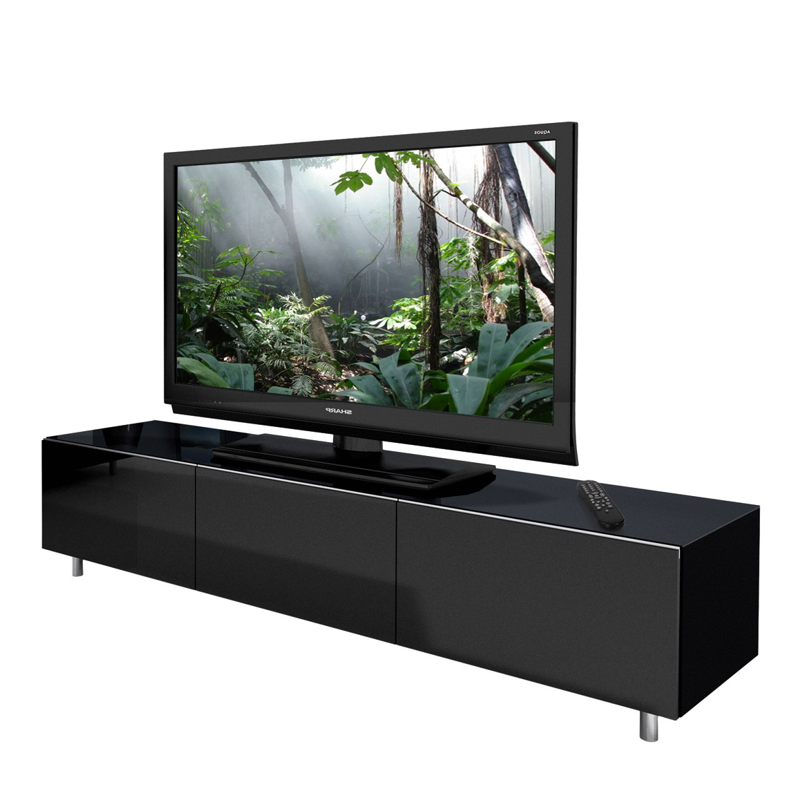 Spectral Just Racks Jrl1650S Gloss Black Tv Cabinet – Just Racks Regarding Popular Black Gloss Tv Units (View 18 of 20)
