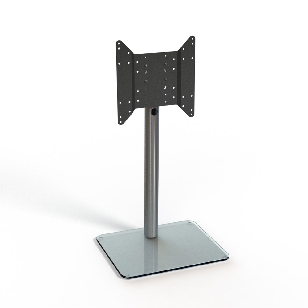 Spectral Just Racks Tv600 Aluminium / Clear Glass Tv Stand – Just Intended For Favorite Cantilever Tv Stands (View 17 of 20)