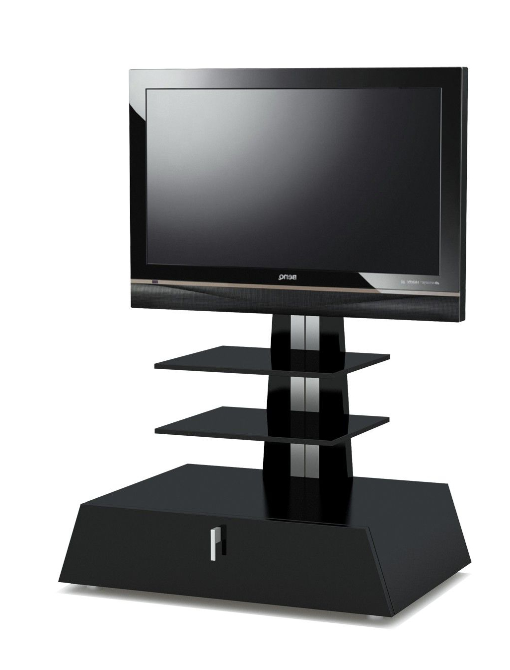 "Stil Stand Gloss Black Cantilever Tv Stand Up To 32"" Stuk 4060B For Latest Stil Tv Stands (View 13 of 20)"