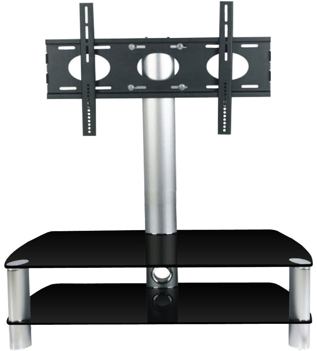 Stil Stand Stuk 2053Chbl Tv Stands Intended For Popular Swivel Black Glass Tv Stands (View 13 of 20)