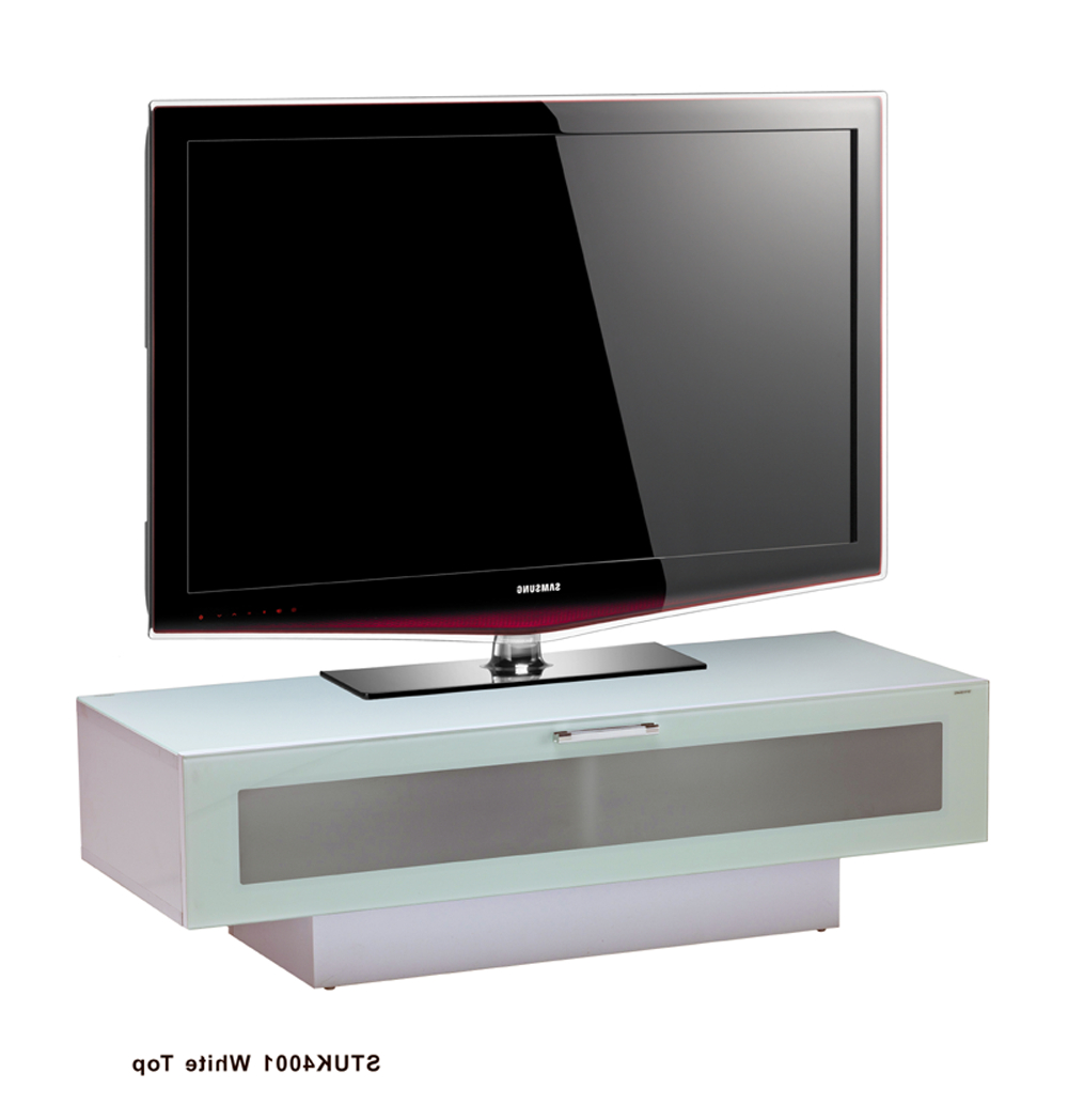 Stil Tv Stands Throughout Most Recently Released Stil Stand Low Height Gloss White Wooden Tv Cabinet – Stuk4001 1 (Gallery 4 of 20)