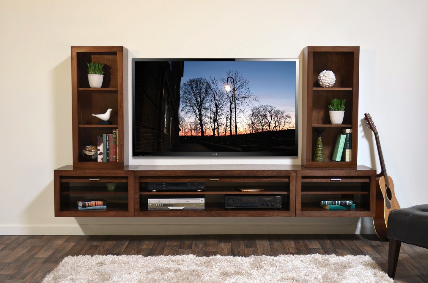 Sturdy Floating Entertainment Center Wall Mount Tv Stand Eco Geo With Regard To Preferred Wall Mounted Tv Stands With Shelves (Gallery 12 of 20)