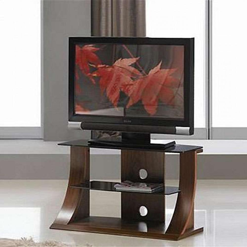 Stylish Tv Cabinets With Regard To Famous Flat Panel Stand Dark Walnut Stylish Black Glass Shelf (Gallery 13 of 20)