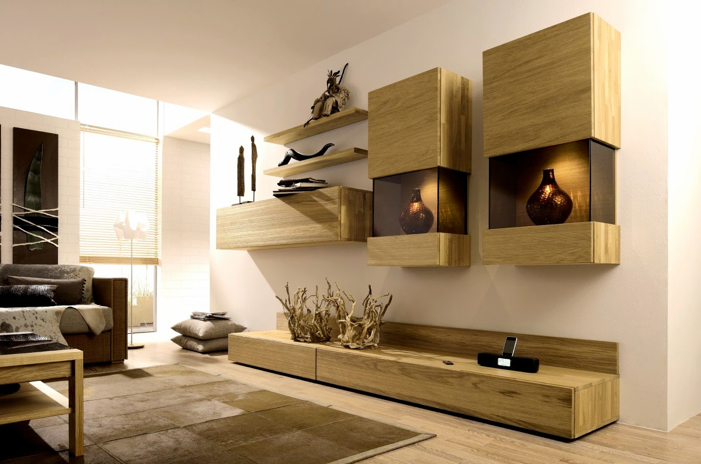 Stylish Tv Wall Units For Living Room In Modern Style (Gallery 4 of 20)