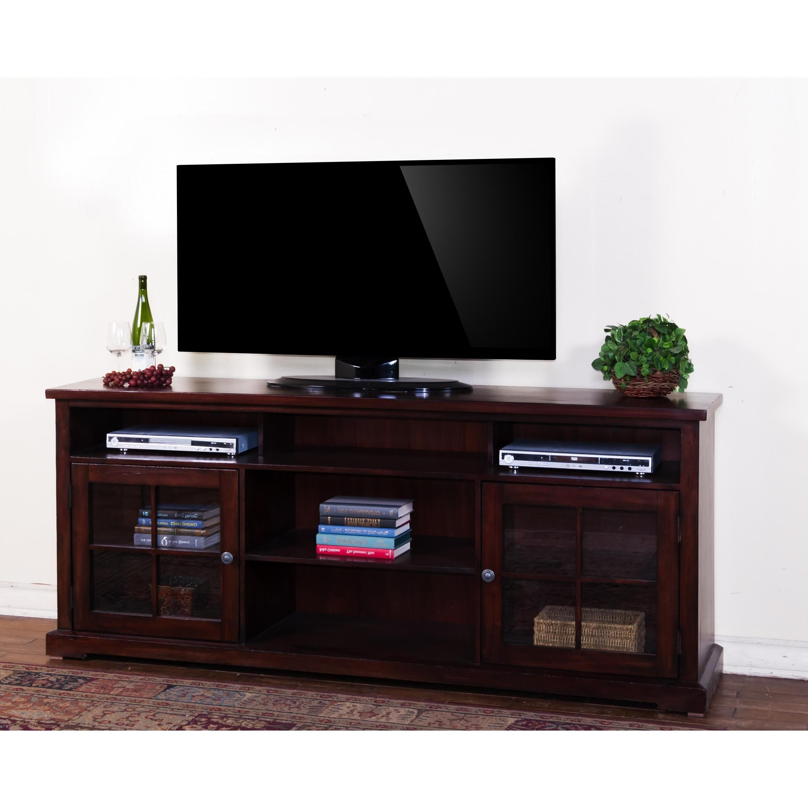 Sunny Designs Vineyard 78 Inch Tv Console (Tv Console), Brown Within Newest Mahogany Tv Cabinets (Gallery 16 of 20)