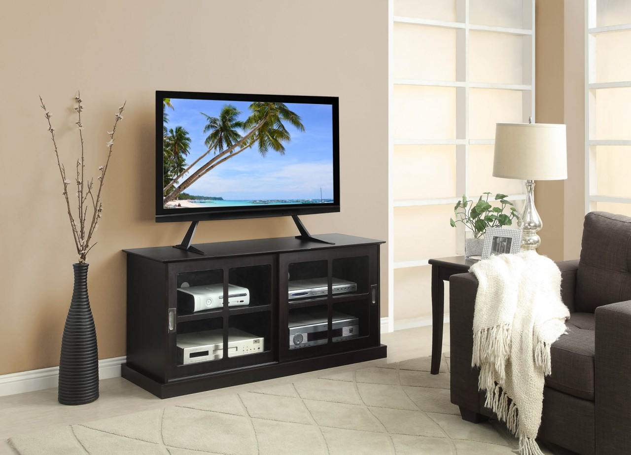 Table Top Tv Stand Black Regarding Popular Tabletop Tv Stands (View 8 of 20)