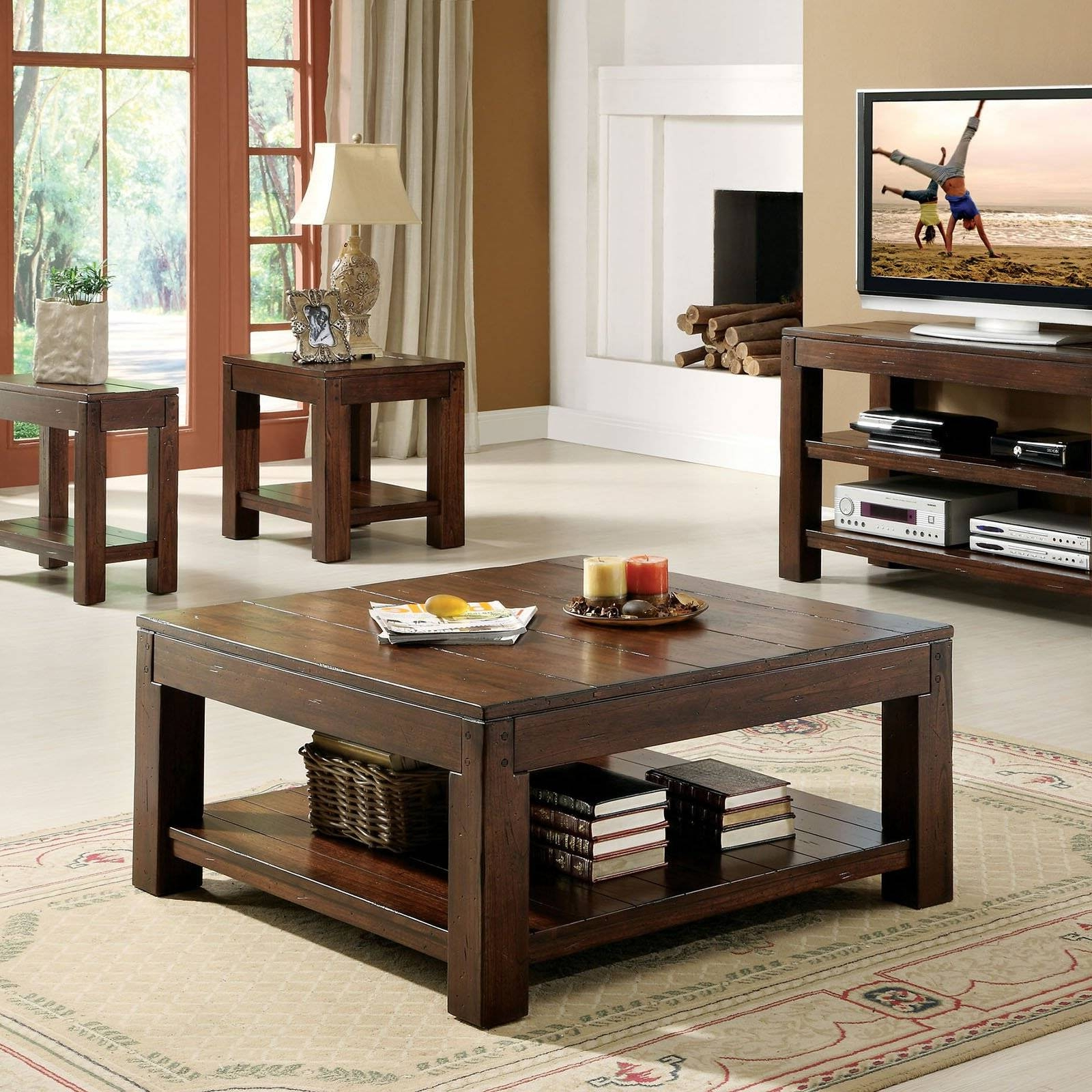 Tables Decoration Intended Throughout Most Recently Released Rustic Coffee Table And Tv Stand (View 16 of 20)