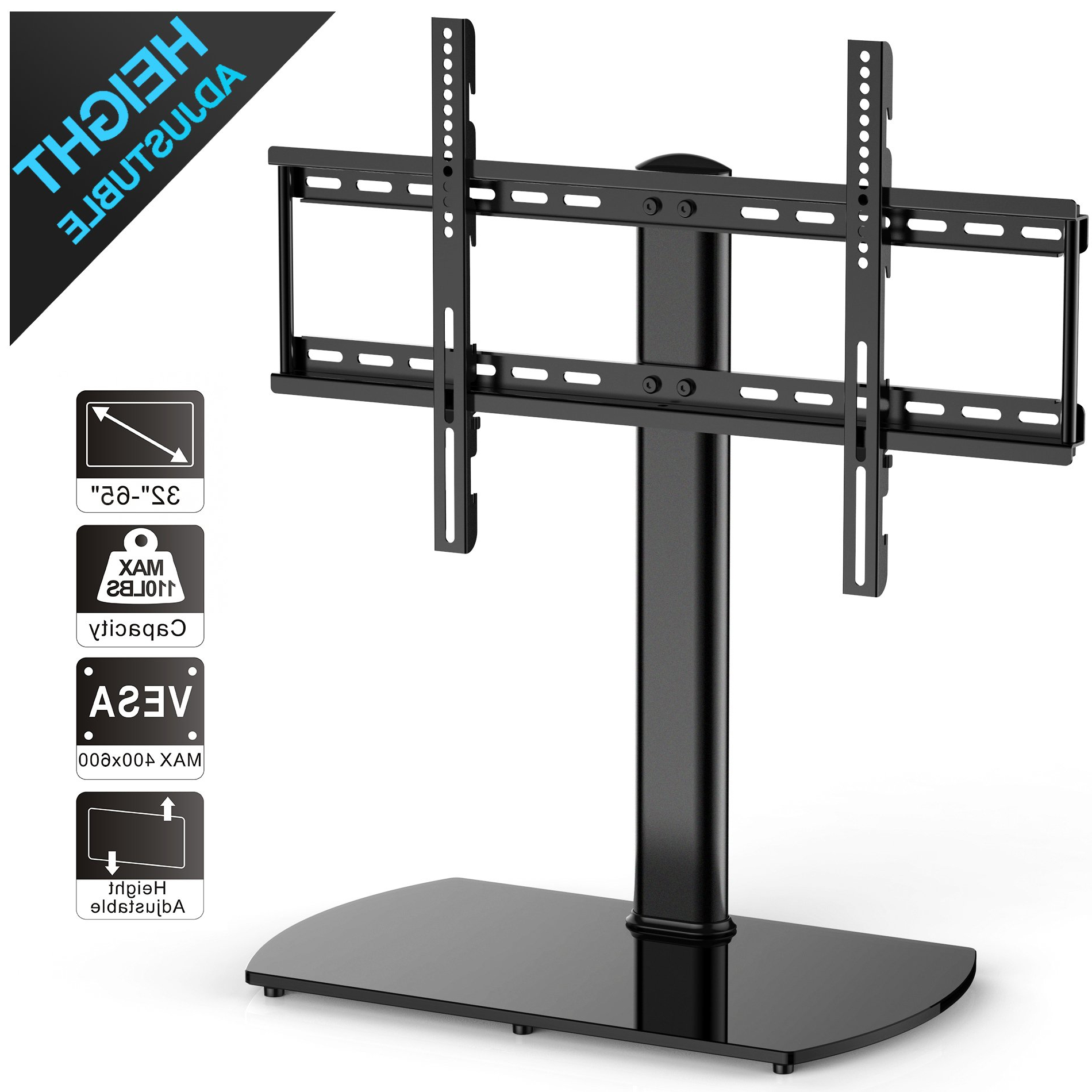 Tabletop Tv Stands With 2018 Fitueyes Universal Tv Stand/ Base Tabletop Tv Stand With Wall Mount (View 20 of 20)