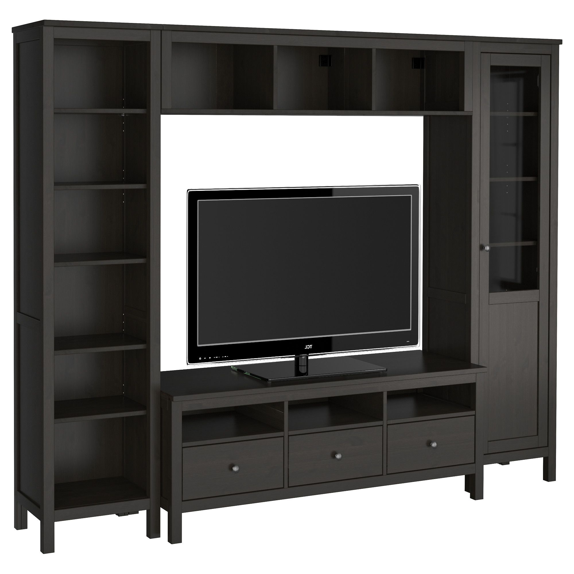 Tall Black Tv Cabinets In Most Popular Black Tv Stand Or Tv Stand With Hutch Also Tall Tv Stand Plus Drawer (View 3 of 20)