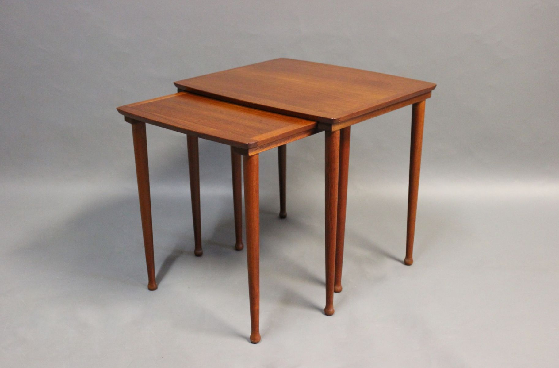 Teak Nesting Tables From Møbelintarsia, 1960S For Sale At Pamono Pertaining To Current Intarsia Console Tables (View 18 of 20)