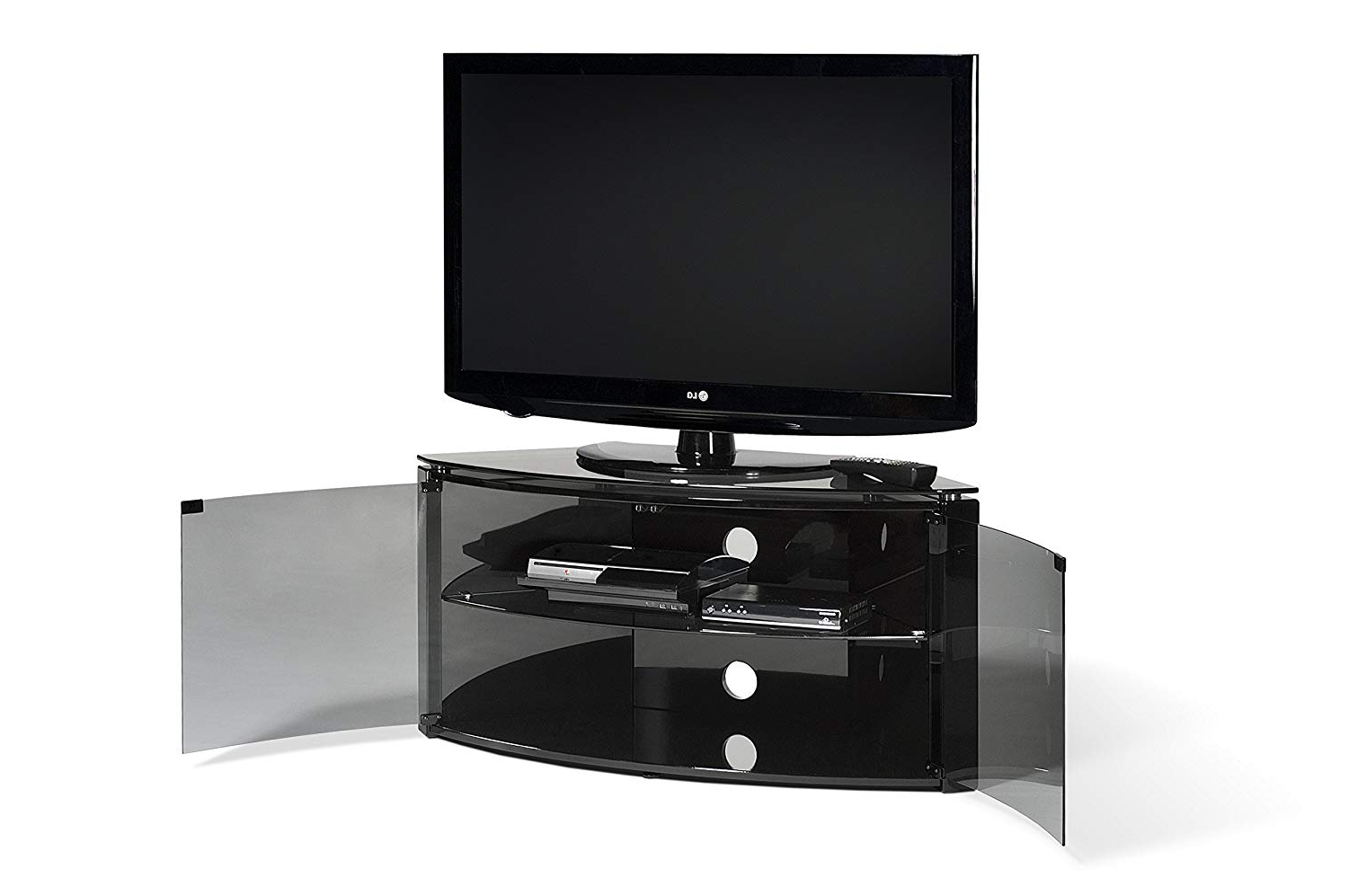 Techlink Bench Corner Tv Stands Throughout 2017 Techlink Corner Bench+ Enclosed Glass Display Tv Stand / Tv Unit (View 3 of 20)