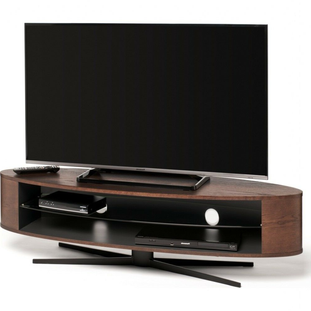 Techlink Corner Tv Stands For Preferred Techlink Ellipse Tv Stand Dark Oak (View 12 of 20)