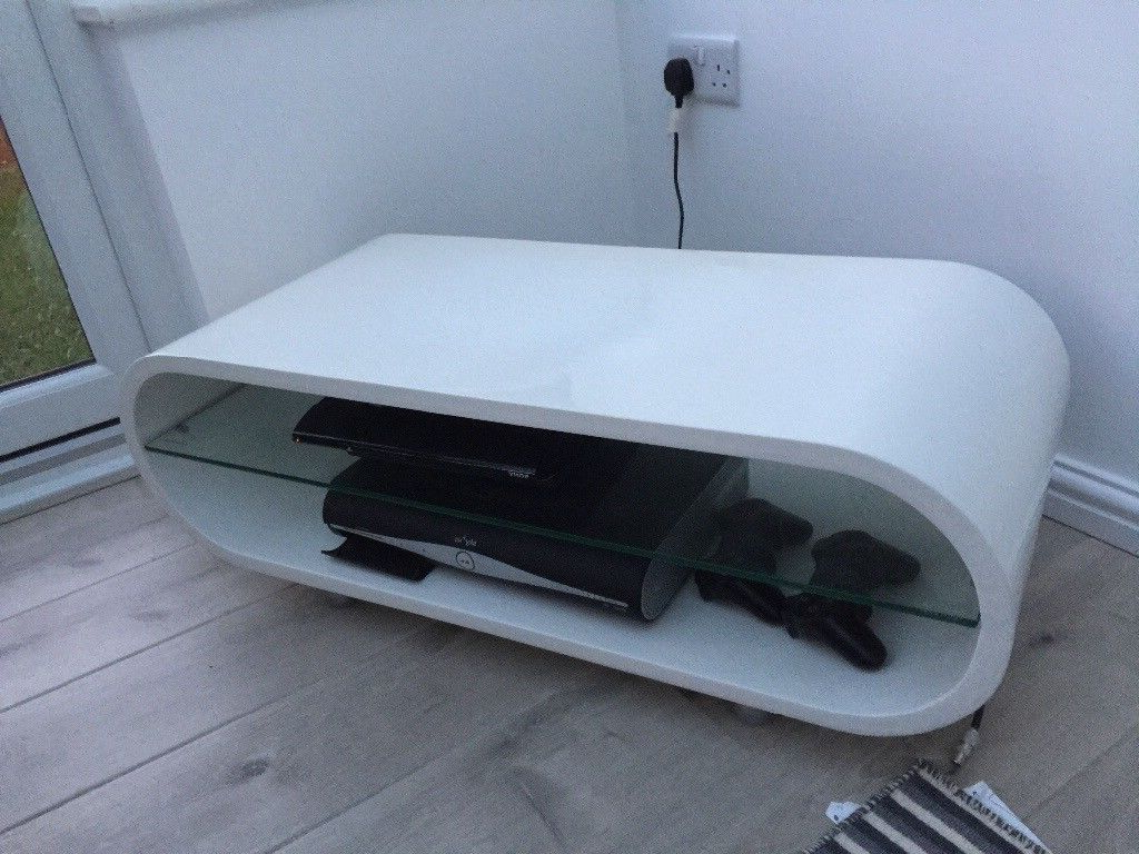 Techlink Ovid Ov95 White Retro Curved Tv Stand Mid 20Th Century Inside Well Known Ovid White Tv Stands (View 4 of 20)