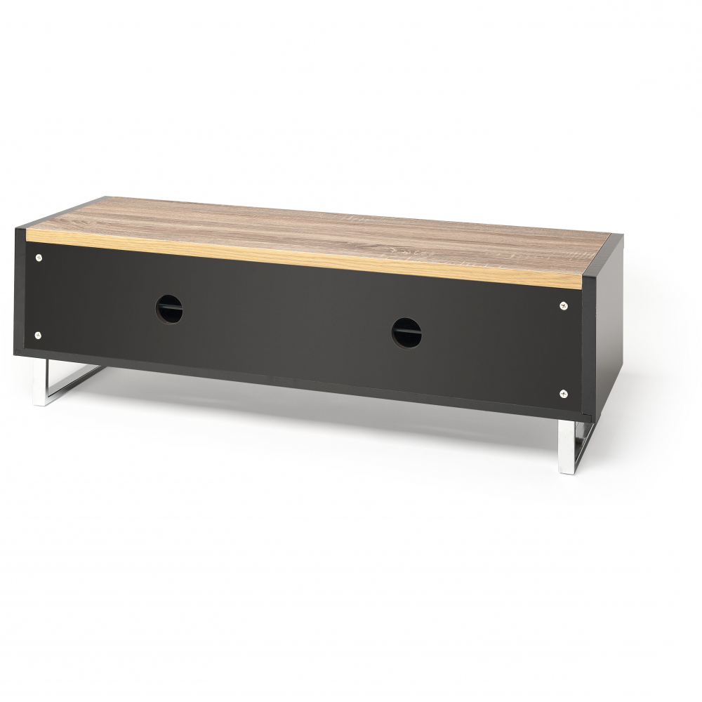 Techlink Panorama Walnut Tv Stands Inside Famous Techlink Pm120logo Lcd / Led Tv Stand Gloss Black 1200mm (View 12 of 20)