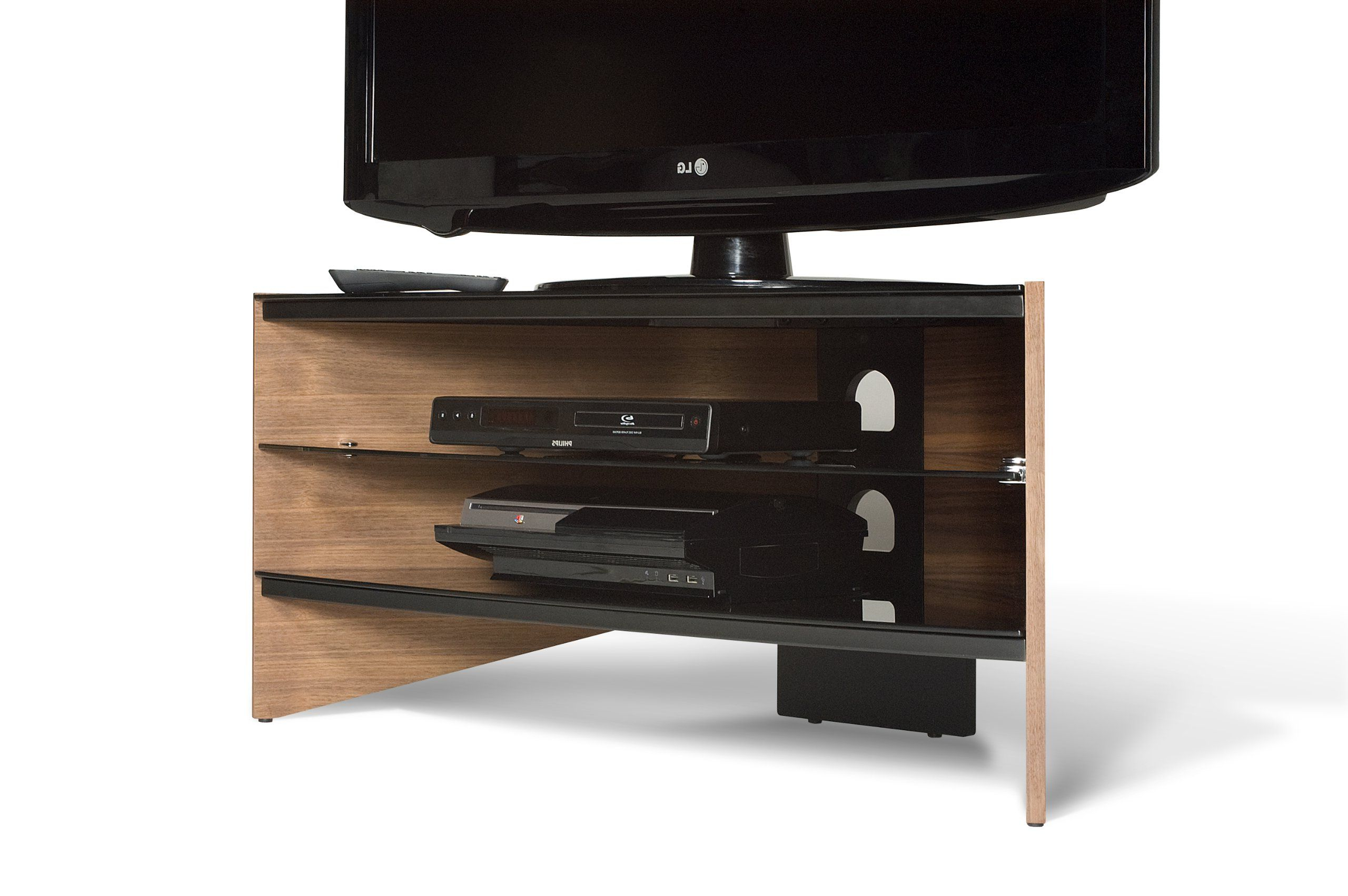 Techlink Riva Rv100w Tv Stand With Black Glass Shelves Suitable For With Regard To Most Recent Techlink Riva Tv Stands (View 5 of 20)