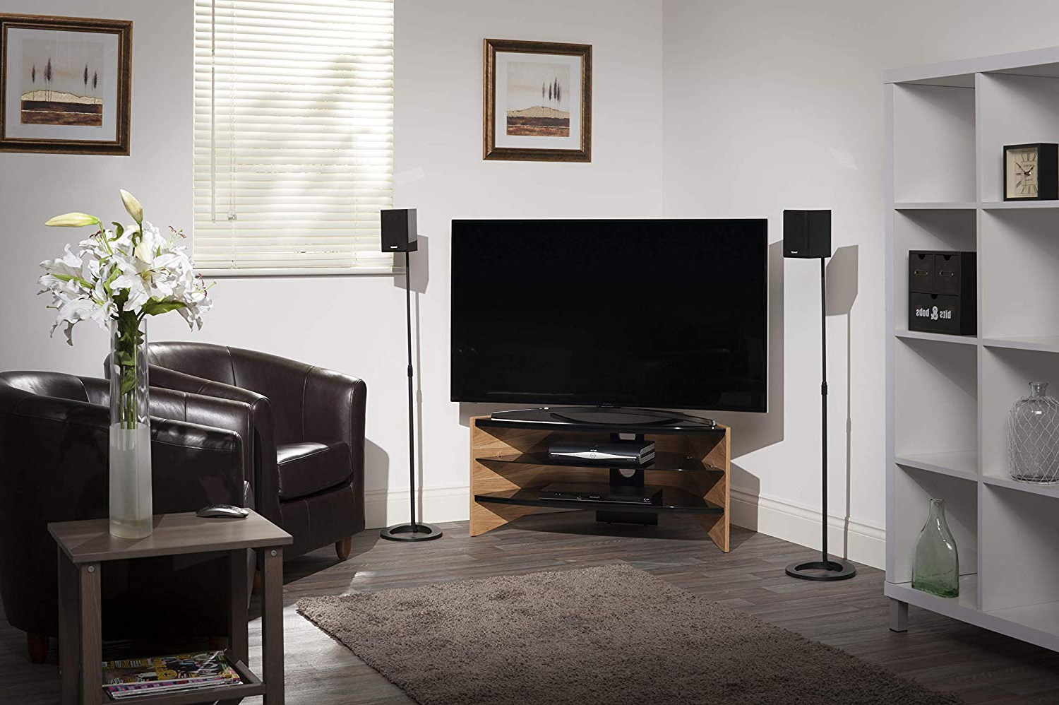 Techlink Riva Tv Stands With Regard To Recent Techlink Riva Corner Tv Stand With Curved Side Panels And Glass (View 19 of 20)