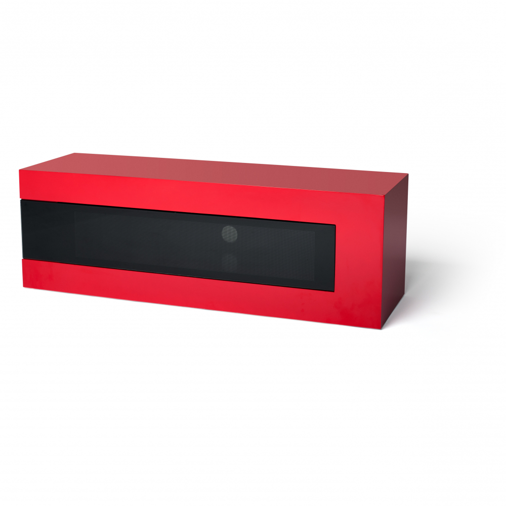 Techlink Wraparound Wr130Sr Satin Red With Black Drop Down Pertaining To Popular Black And Red Tv Stands (View 19 of 20)