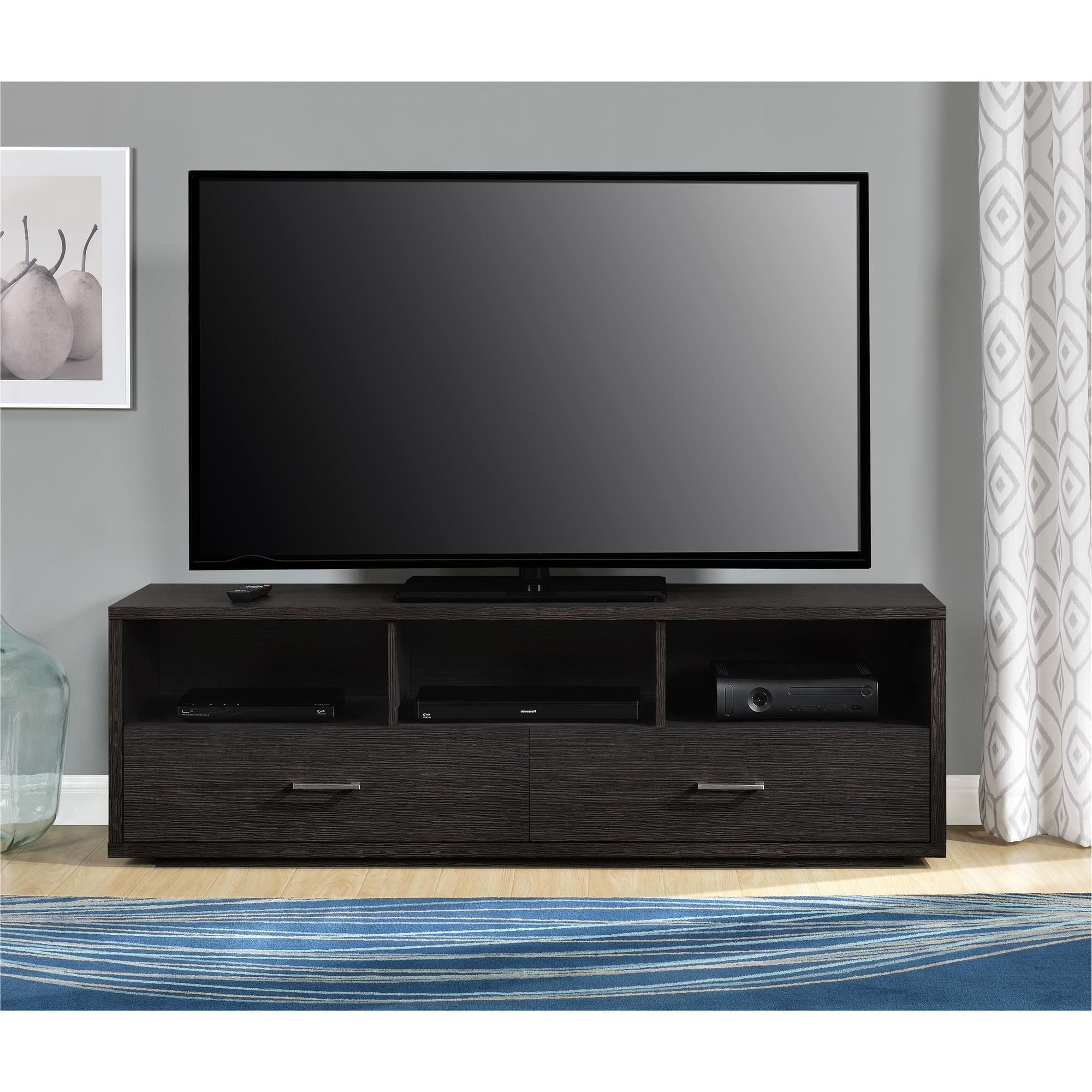 The Altra Clark 70 Inch Tv Stand Helps To Make A Statement In Your Throughout Favorite Tv Stands For 70 Inch Tvs (View 2 of 20)