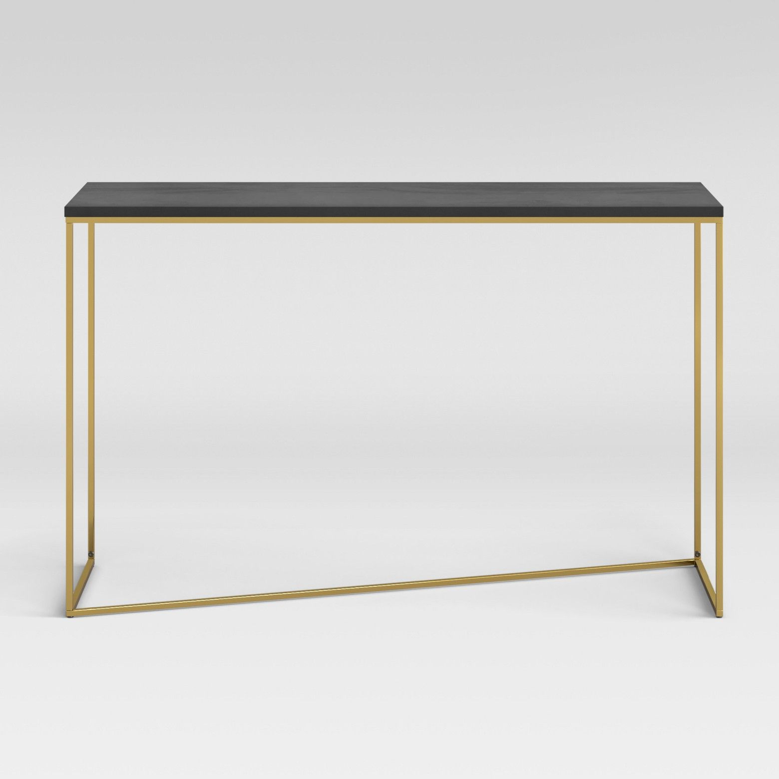 The Sollerod Console Table Brass And Black From Project 62 For Well Known Elke Glass Console Tables With Brass Base (View 19 of 20)