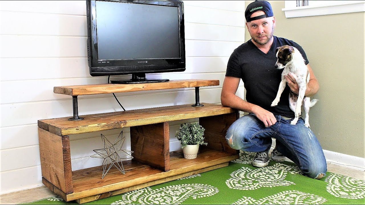 The Super Easy Tv Stand – Diy Project – Youtube In Recent Cheap Tv Tables (View 12 of 20)