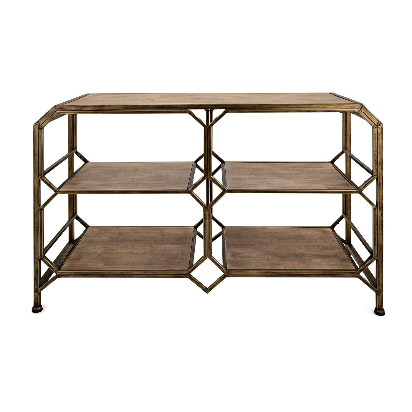 Tobias Media Console Tables Inside Most Up To Date Shop Tobias Antique Brass Console Shelf – On Sale – Free Shipping (View 15 of 20)