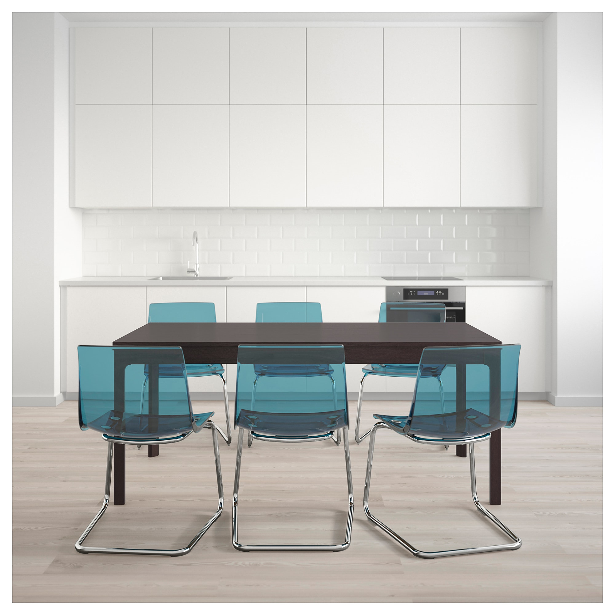 Tobias Media Console Tables Pertaining To Well Known Ekedalen / Tobias Table And 6 Chairs – Ikea (View 8 of 20)