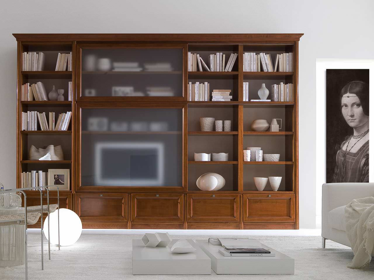 Traditional Tv Cabinet / Wooden – Livingpierangelo Sciuto For Widely Used Traditional Tv Cabinets (View 3 of 20)