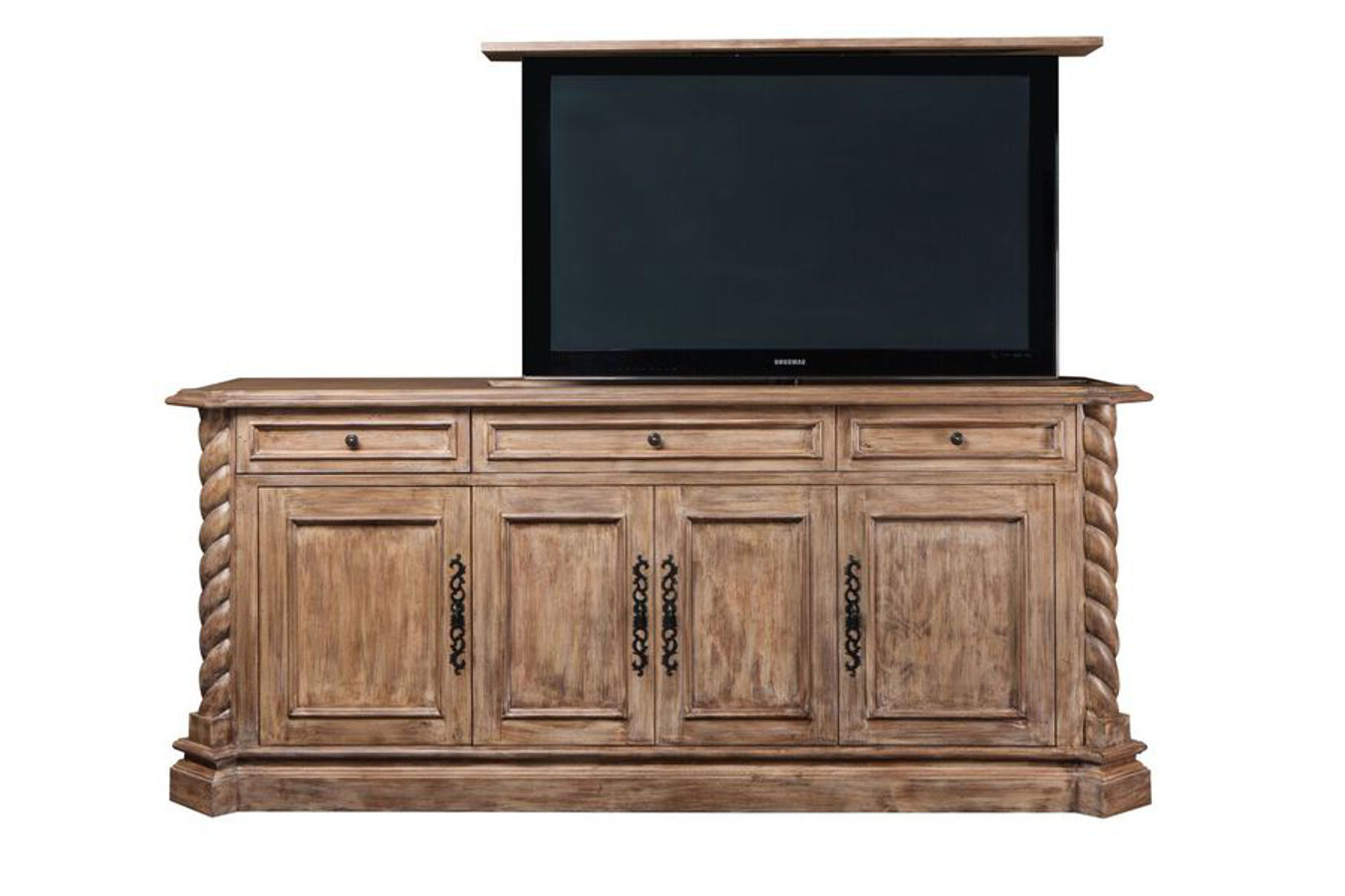 Traditional Tv Cabinets With Regard To Most Recently Released Hidden Tv Cabinet (View 4 of 20)