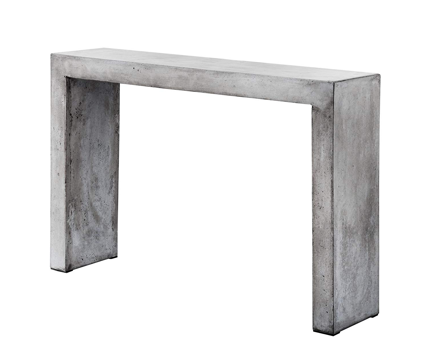 Trendy Amazon: Sunpan Modern Axle Console Table, Grey: Kitchen & Dining Within Parsons White Marble Top & Stainless Steel Base 48x16 Console Tables (View 7 of 20)