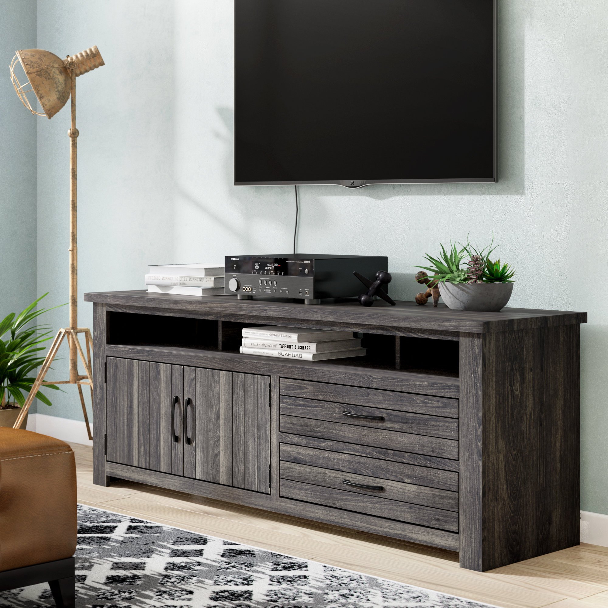 Trendy Annabelle Blue 70 Inch Tv Stands Throughout 70 Inch Tv Stands (View 18 of 20)