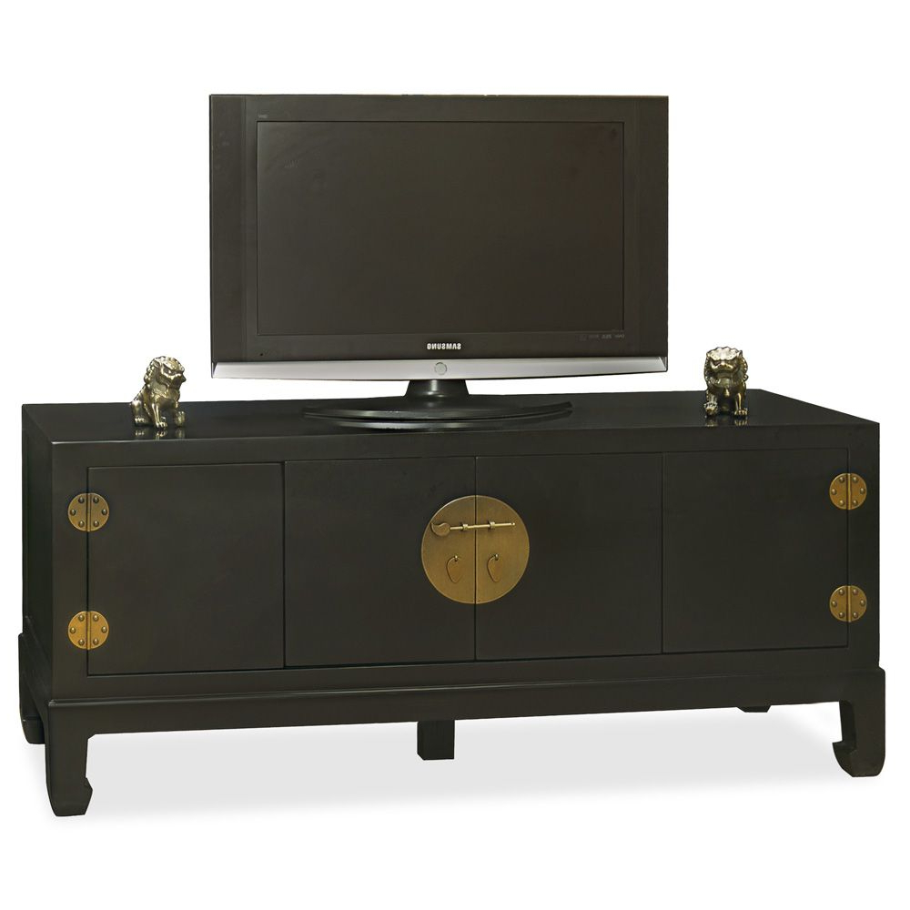 Trendy Asian Tv Cabinets Intended For Elmwood Kang Media Cabinet In (View 3 of 20)