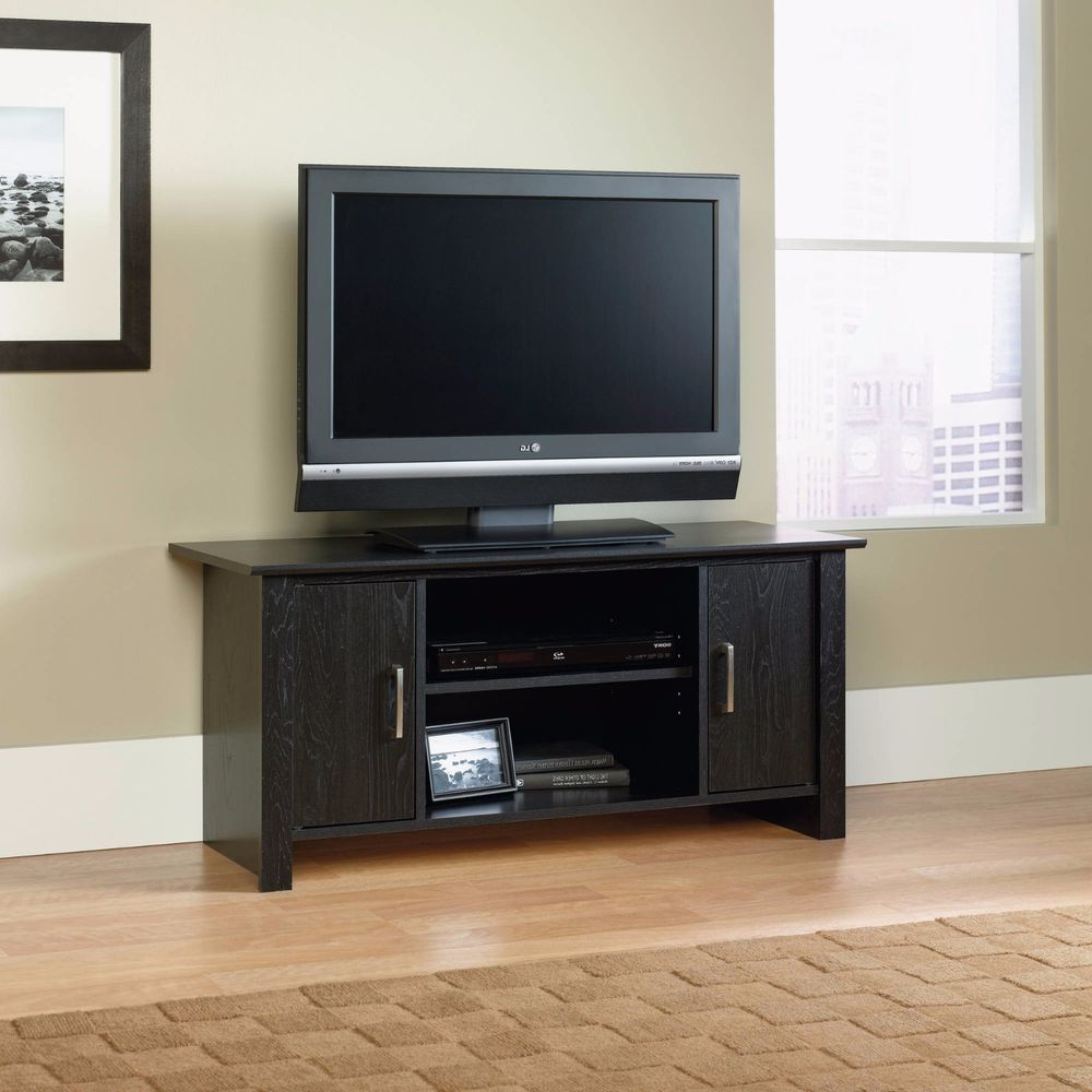 Trendy Black Tv Stand Wooden 47 Flat Screen Tv Storage Media Console New Regarding Contemporary Tv Cabinets For Flat Screens (View 18 of 20)