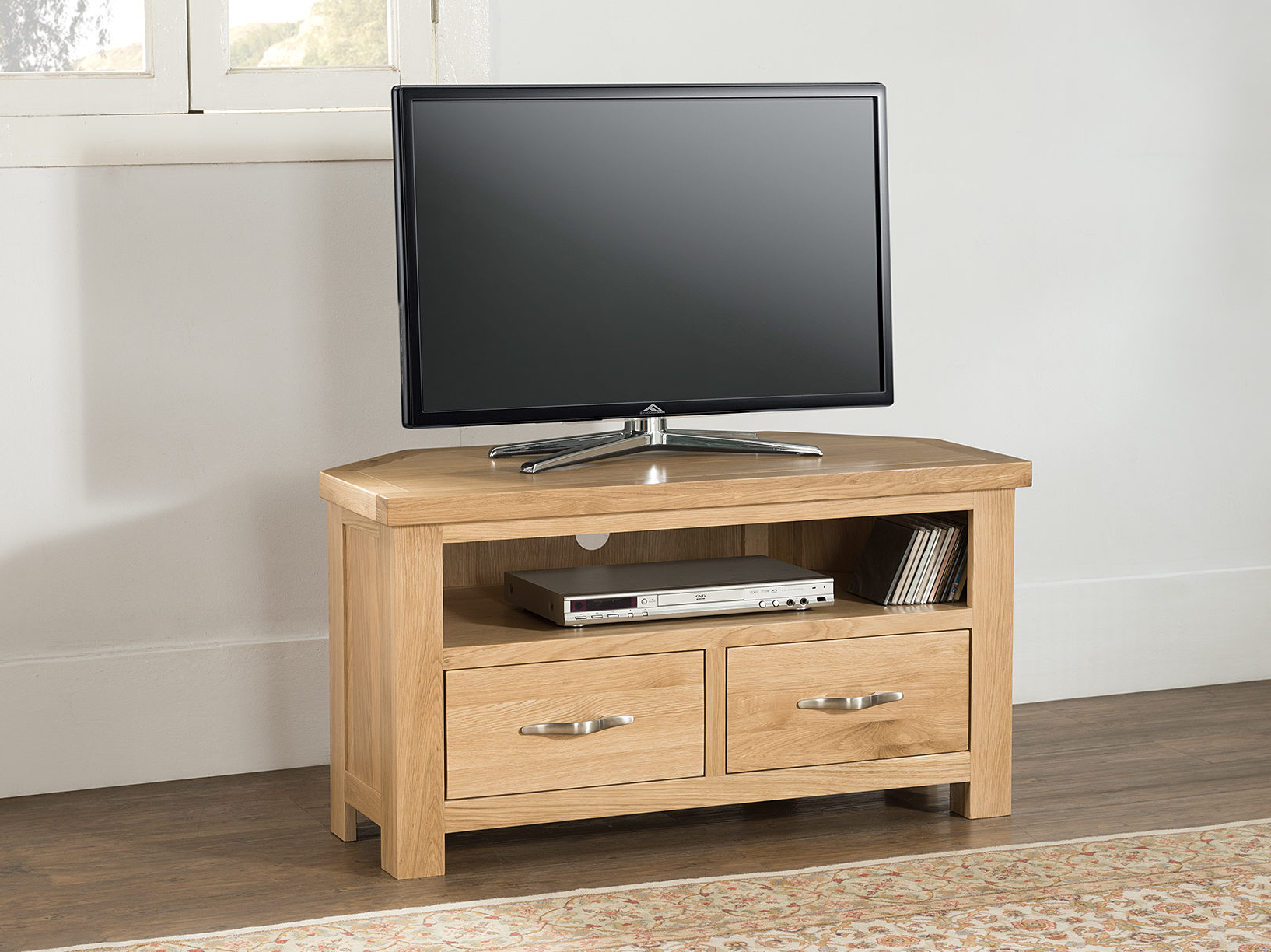 Trendy Broadoak Corner Tv Unit, Uniques Furniture Shop Pertaining To Small Oak Corner Tv Stands (View 15 of 20)