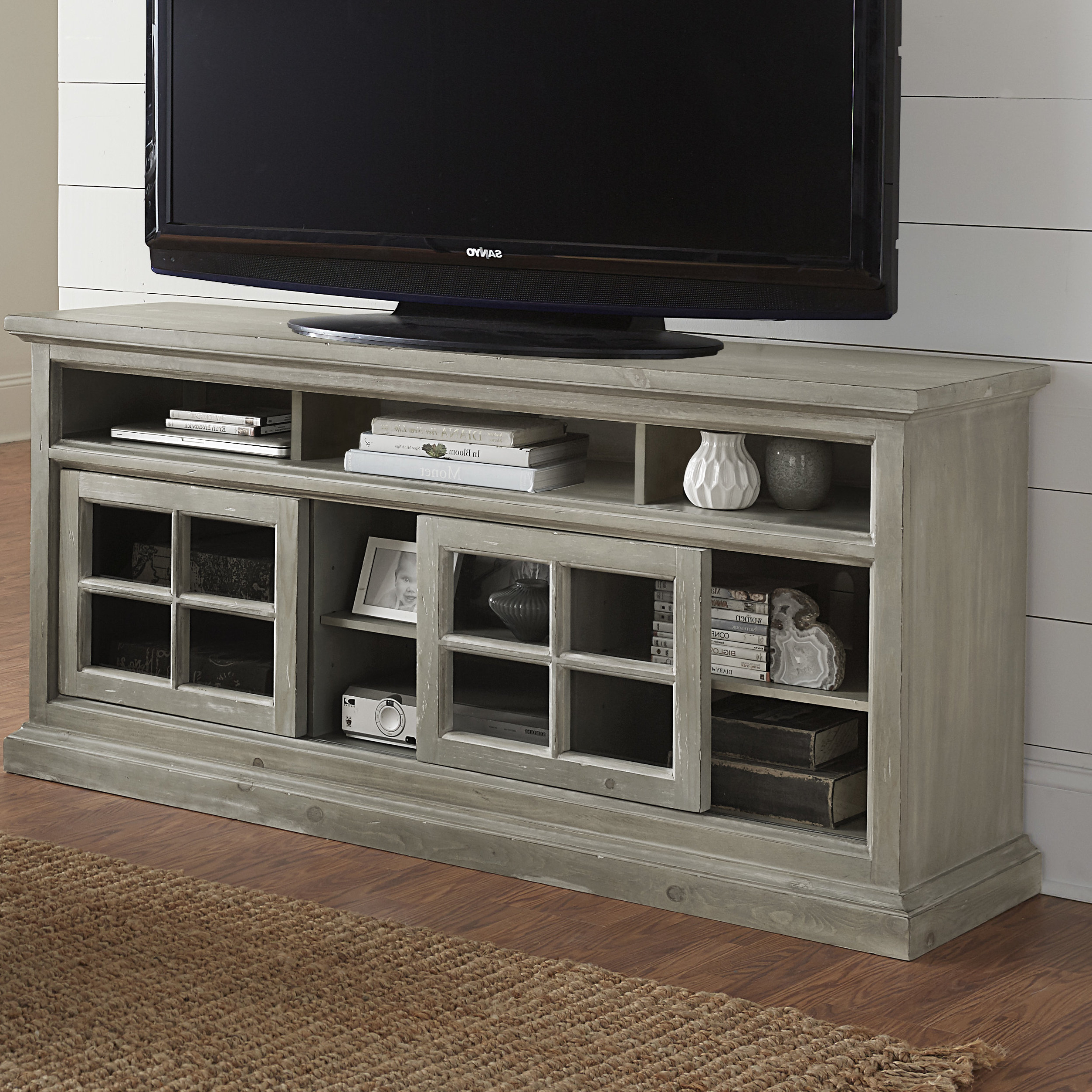 Trendy Edwin Grey 64 Inch Tv Stands For 60 64 Inch Tv Stands (View 12 of 20)