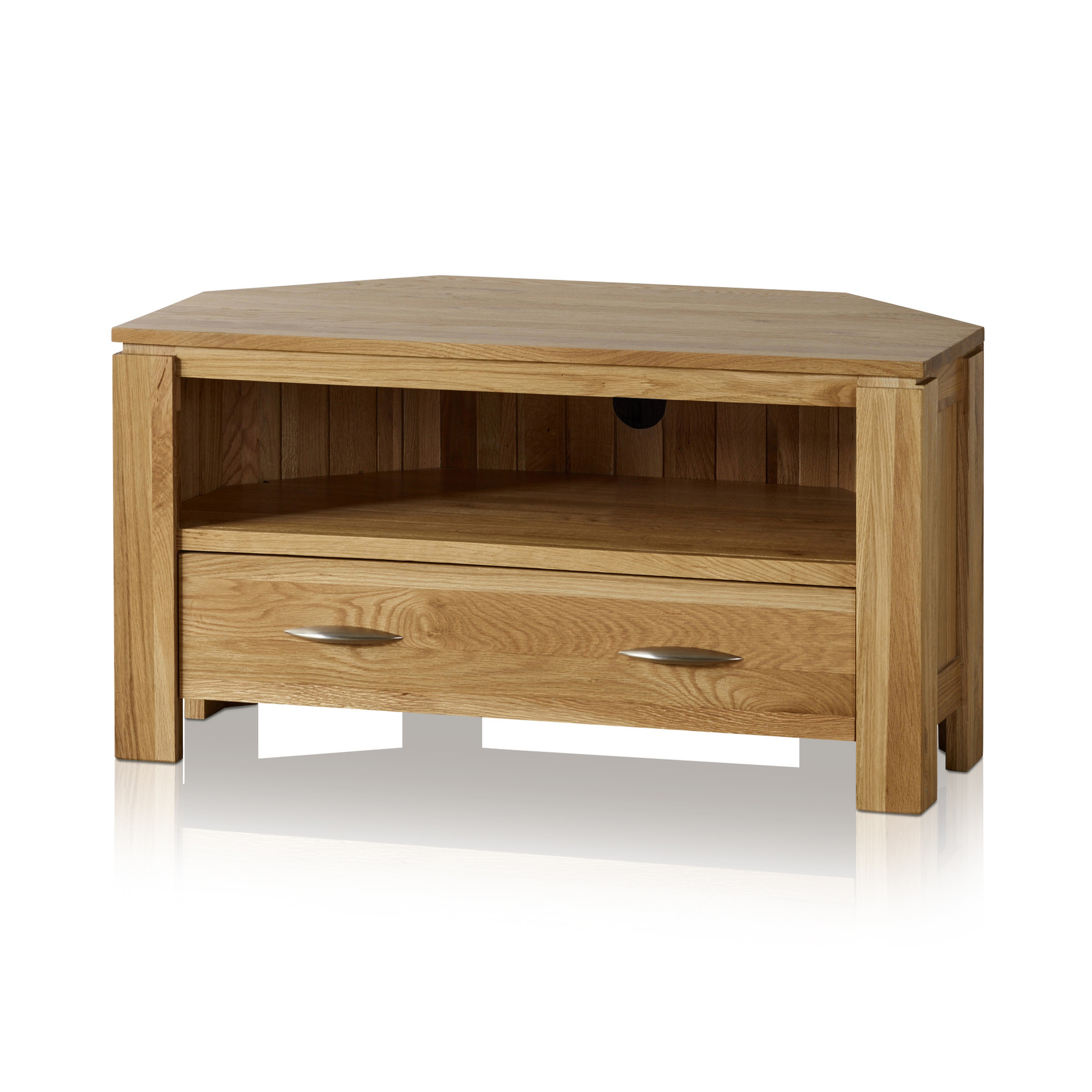 Trendy Galway Corner Tv + Dvd Cabinet In Solid Oak (View 17 of 20)