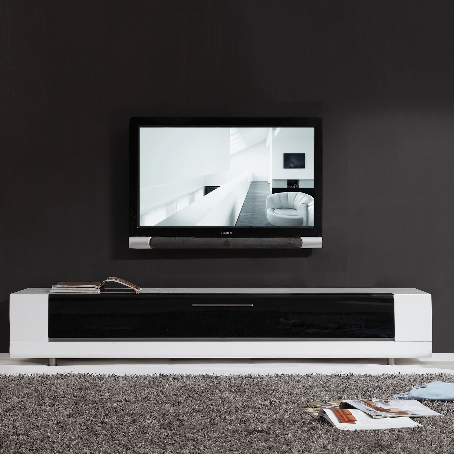 Trendy Hide Unsightly Components With This White Tv Stand (View 13 of 20)