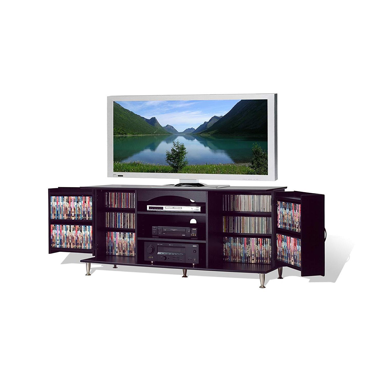 Trendy Jaxon 71 Inch Tv Stands Inside Amazon: Premier Large Black Flat Panel Plasma / Lcd Tv Console (View 20 of 20)