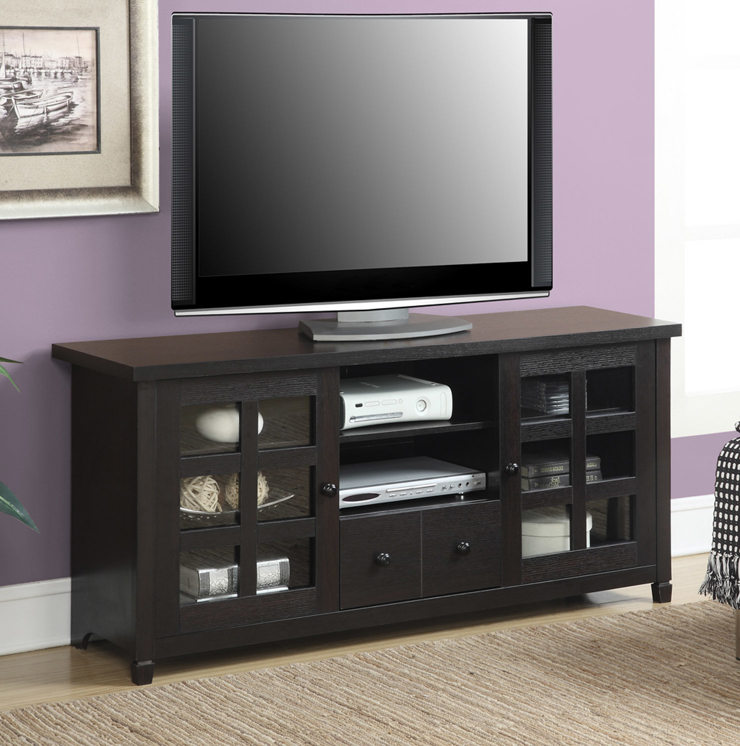 "Trendy Laurent 60 Inch Tv Stands Regarding Andover Mills Shepparton Tv Stand For Tvs Up To 60"" & Reviews (View 11 of 20)"