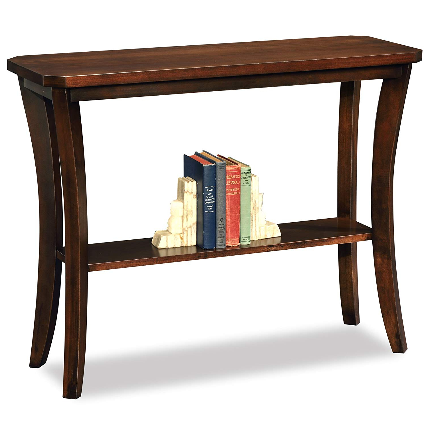 Trendy Layered Wood Small Square Console Tables Throughout Amazon: Leick Furniture Boa Collection Solid Wood Hall Console (View 17 of 20)