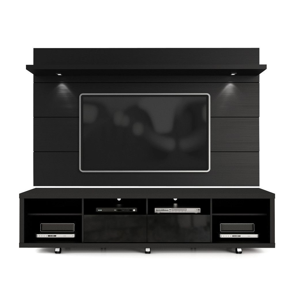Trendy Led Tv Cabinets Intended For Manhattan Comfort Cabrini Tv Stand And Floating Wall Tv Panel With (View 16 of 20)