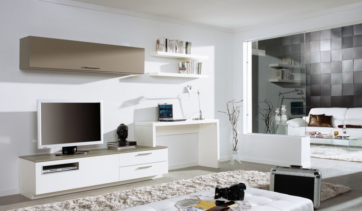 Trendy Living Room: Amazing Computer Desk Tv Stand Combo With White Best With Regard To Tv Stands And Computer Desks (View 9 of 20)