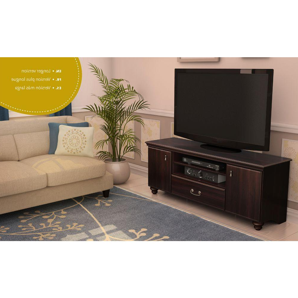 Trendy Mahogany Tv Stands Pertaining To South Shore Noble 50 Disk Capacity Tv Stand For Tvs Up To 60 In (View 18 of 20)