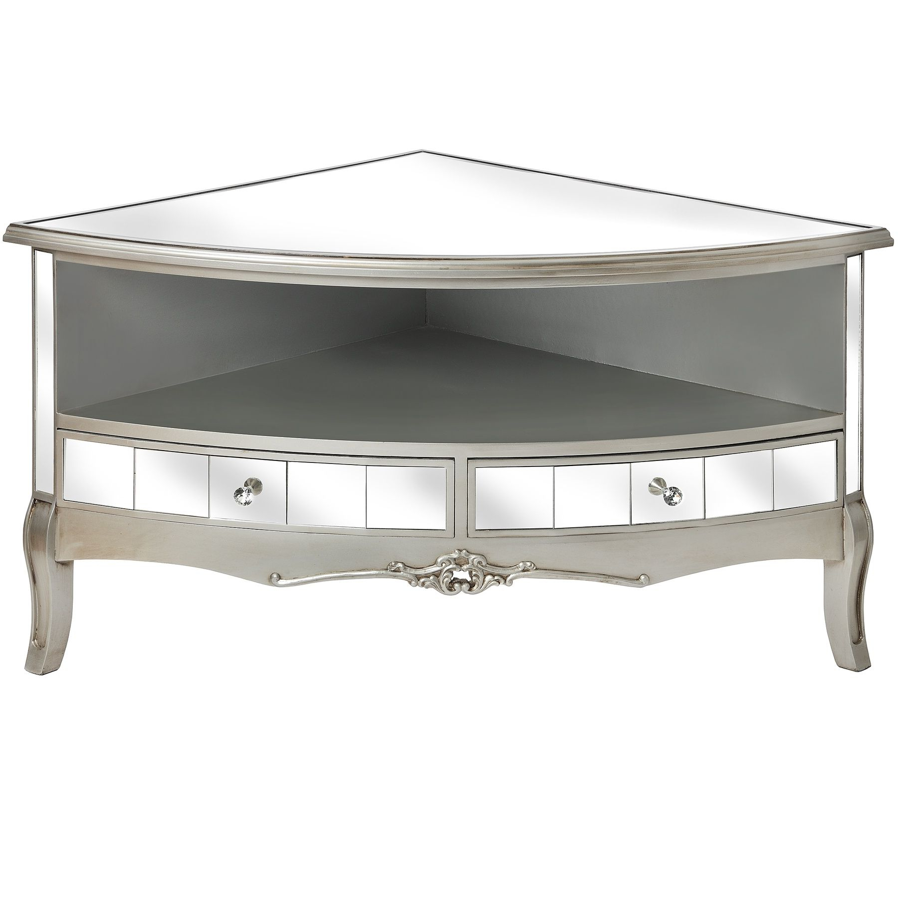 Trendy Mirrored Furniture Tv Unit With Regard To Argente Mirrored Corner Tv Unit (View 14 of 20)