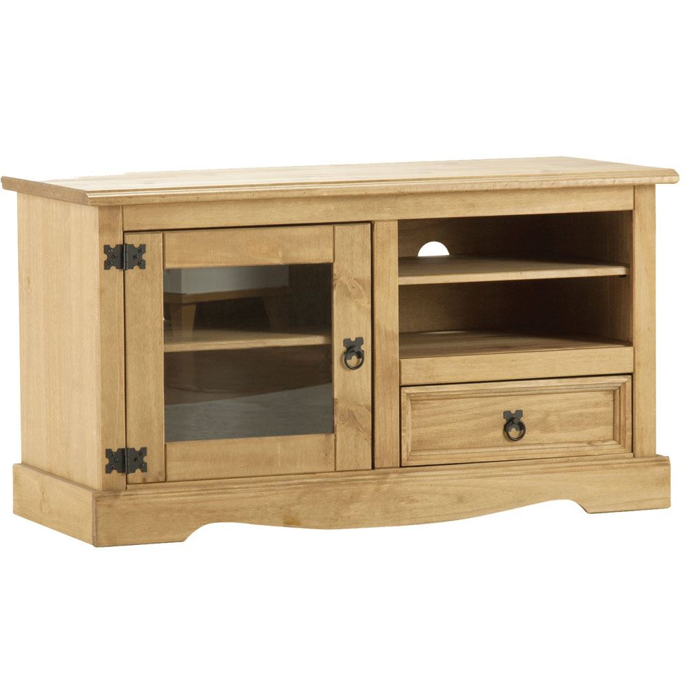 Trendy Pine Tv Stands For Corona Entertainment Unit Mexican Solid Waxed Pine Tv Cabinet Stand (View 17 of 20)