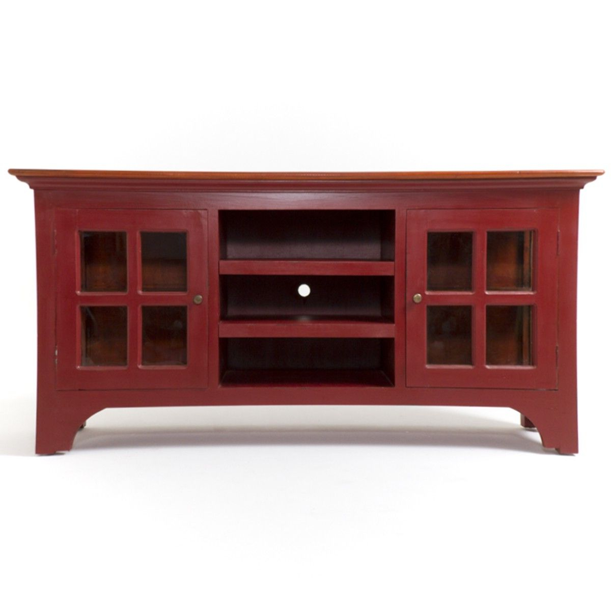 Trendy Red Tv Cabinets For Lunenburg Tv Stand – Media Stands – Cabinets – Cabinets & Shelving (View 11 of 20)